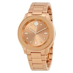 Movado rose tone watch